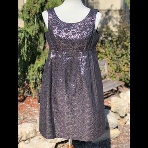 London Times metallic empire waist dress sz 8 P